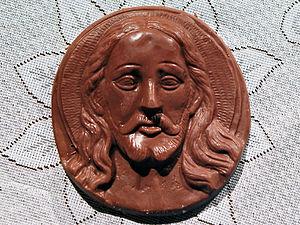 Español: Imagen del rostro de Jesucristo, hech...