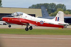 BAC Jet Provost - ex-RAF BAC Jet Provost T5 lands at RAF Fairford, England, in 2008