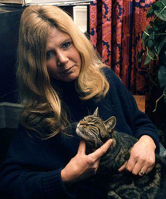Jilly Cooper - Cooper in 1974 (by Allan Warren)