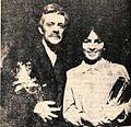 Jože Kovačič v vlogi Urha in Minka Oblak v vlogi Lenčke 1968.jpg