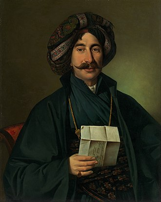 Giuseppe Tominz -  Giuseppe Tominz - Man in Ottoman dress