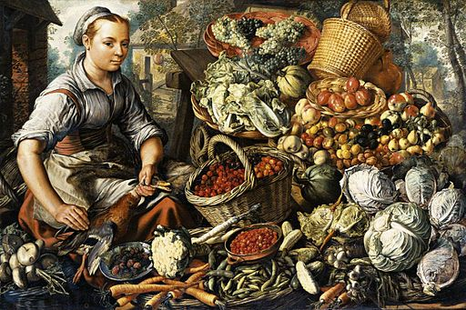 Joachim Beuckelaer - Market Woman with Fruit, Vegetables and Poultry - WGA02119