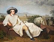 Johann Heinrich Wilhelm Tischbein - Goethe in der roemischen Campagna