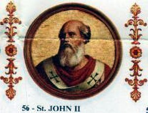 Pope John II - Image: Johannes II