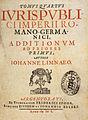 Johannes Limnäus Iuris publici Bd 4 Titel.jpg