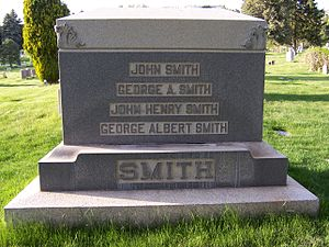 George A. Smith - Image: John George Smiths Monument Front