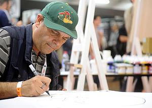 Dork Tower - Creator John Kovalic at Lucca Comics & Games in 2014.
