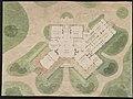 John N. A. Griswold house (now Newport Art Museum), Newport, Rhode Island. First floor plan and site plan LCCN2013648677.jpg
