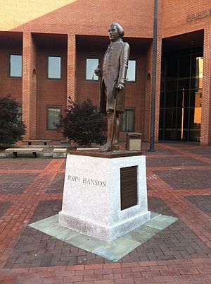 John Hanson - John Hanson memorial statue at Frederick, Maryland courthouse