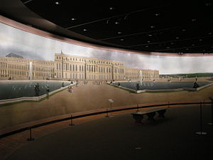 Cosmorama - Image: John vanderlyn, panoramic view of the palace and gardens of versailles, 1818 1819, 01