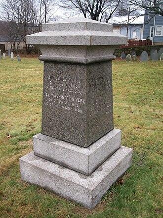 Jones Very - Grave of Jones Very in Peabody, Massachusetts