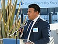 Jose Hernandez at Central Bay Operations and Maintenance Facility opening, December 2018.JPG