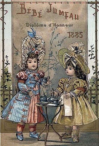 Fashion doll - Bisque doll advertising from the French company Jumeau, 1885