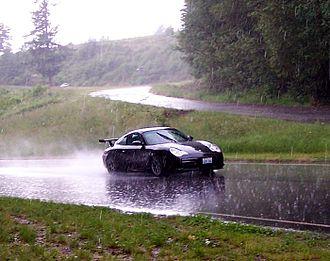 Pacific Raceways - A Porsche participating in a June 2005 BMW club track day
