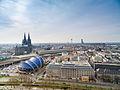 Köln Dom Luftbild musical - cologne aerial (25352427475).jpg