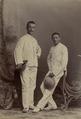 KITLV - 178720 - Stafhell & Kleingrothe - Medan-Deli-Sumatra O.K. - Studio portrait of two men in Medan, Sumatra - circa 1900.tiff