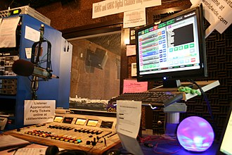 KNHC - KNHC's On-Air Studio A before the 2009 rebuild