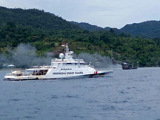 Indonesian Maritime Security Agency - KN Kuda Laut of BAKAMLA during a patrol in Ambon, Maluku.