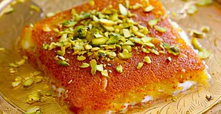 Kanafeh traditional Middle-Eastern dessert