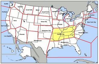 Kansas City Air Defense Sector - Map of Great Falls ADS