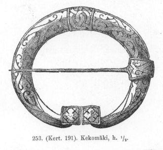 Karelia (historical province of Finland) - Image: Karelian penannular brooch Schvindt 1893