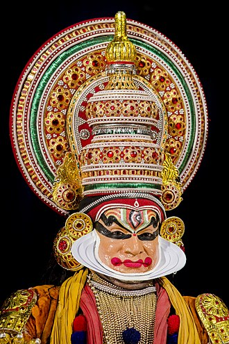History and Culture of Kottarakkara - A close-up of a Kathakali artist