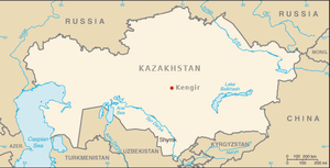 Kengir uprising - Approximate location of Kengir camp in Kazakhstan