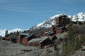 Copper mining in the United States - The Kennecott Concentration Mill, the mines are in the mountains to the east