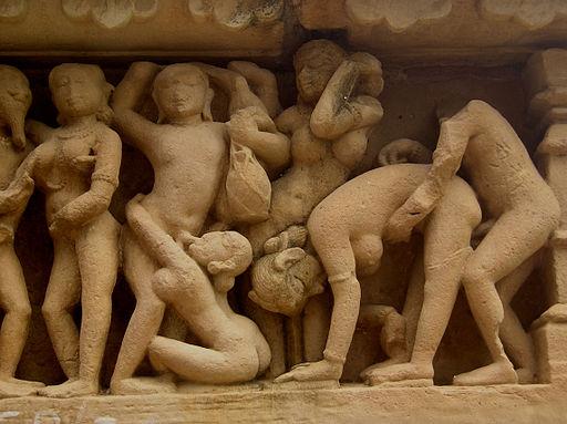 Khajuraho-Lakshmana Temple erotic detal1
