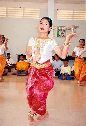 Sampot - A Khmer traditional dancer in a sampot