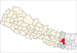 map of Khotang, Nepal