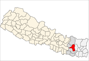 Khotang District - Image: Khotang district location