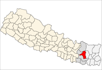 Khotang District - Image: Khotang district location