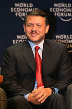 King Abdullah - World Economic Forum on the Middle East Dead Sea Jordan 2007.jpg