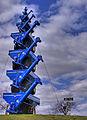 Kinze grain auger carts sculpture, Williamsburg, Iowa.jpg