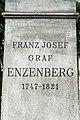 Klagenfurt Ursulinengasse Enzenbergdenkmal Postament Inschrift 4043.jpg