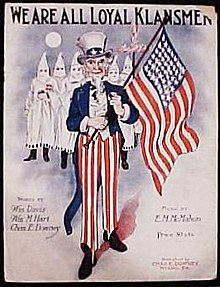 sheet music to we are all loyal klansmen 1923