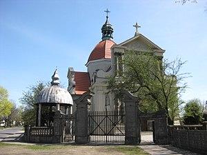 Church of the Sacred Heart of Jesus, Grabowo Królewskie - Image: Kościół w Grabowie Królewskiem