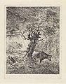 Koe bij een knotwilg Landschappen (serie B) (serietitel), RP-P-OB-24.240.jpg