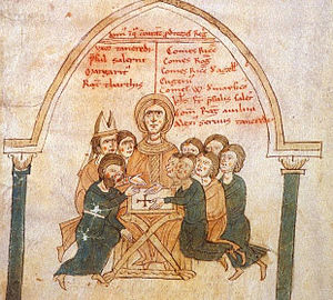 Margaritus of Brindisi - Margaritus with Sibylla and the alleged plotters