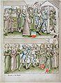 Konstanzer Richental Chronik Prozession zum Münster, Heinrich von Ulm, Heinrich Schiltar, Konrad Mangolt 20r.jpg