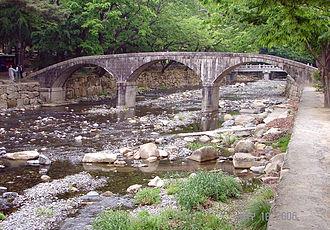 Tongdosa - Samseongbanwol or One Mind Bridge near entrance