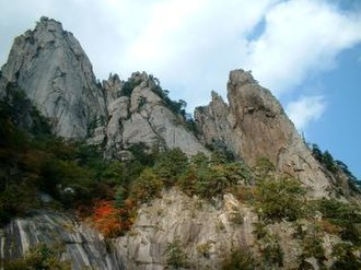 Gangwon Province, South Korea - Seoraksan, one of the best-known mountains of Gangwon-do.