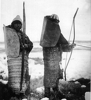 Late lamellar armour worn by native Siberians ...