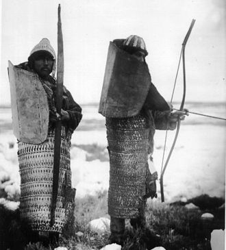Lamellar armour - Lamellar armour worn by Koryak people