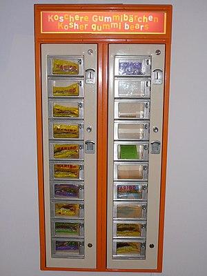 Deutsch: Automat für koschere Gummibärchen an ...