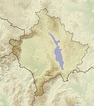 Kosovo field (plain) - Approximate extent of the Kosovo field plain.