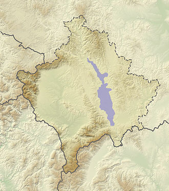 Kosovo field (Kosovo) - Approximate extent of the Kosovo field plain.