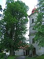 Kostol (church) a lipa - Hrochoť - panoramio.jpg