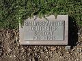 Kriegsopferfriedhof Kloster Arnsburg Grabstein Unbekannter Deutscher Soldat.JPG